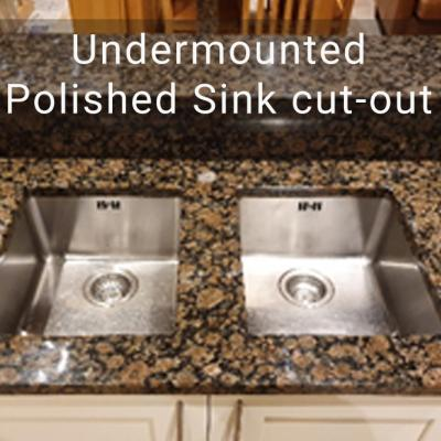 Undermounted Polished Sink Cut Out